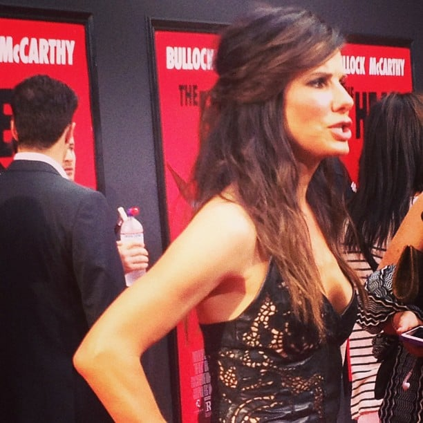 Sandra Bullock was practically sizzling on the red carpet for The Heat.