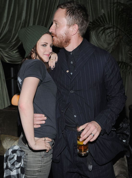Pictures of Kristen Stewart Getting A Kiss From Director Jake Scott At Welcome To The Rileys Afterparty