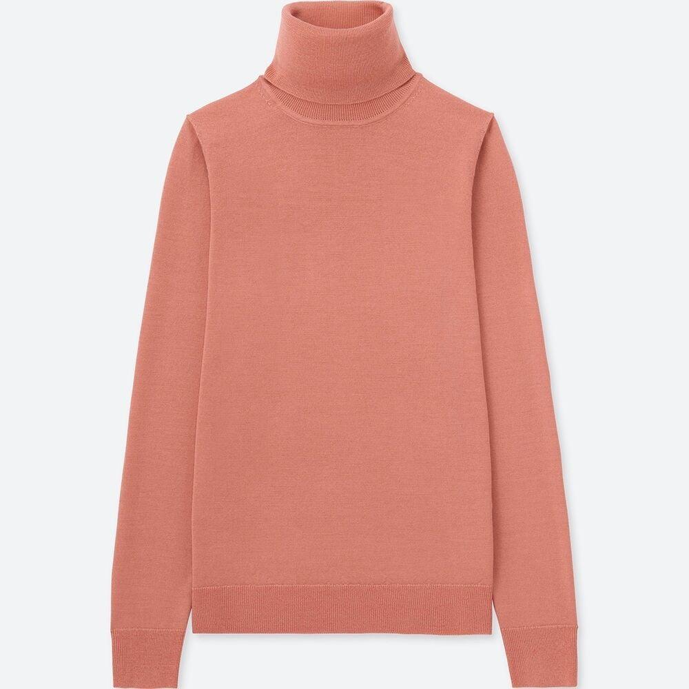Uniqlo Extra Fine Merino Turtle Neck Sweater ($39.90)
