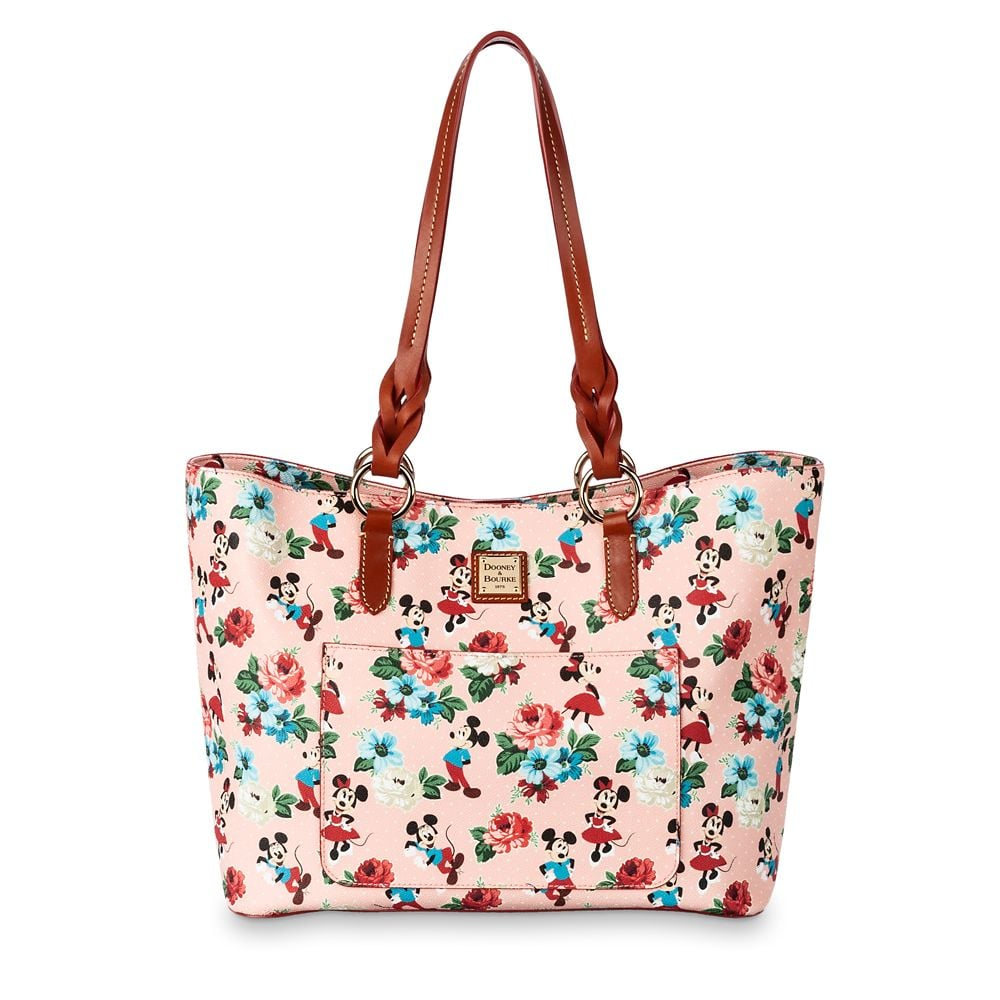 Mickey and Minnie Mouse Floral Tote by Dooney and Bourke