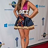 Kasey Musgraves wore her onstage outfit to the Universal Music Group bash.
