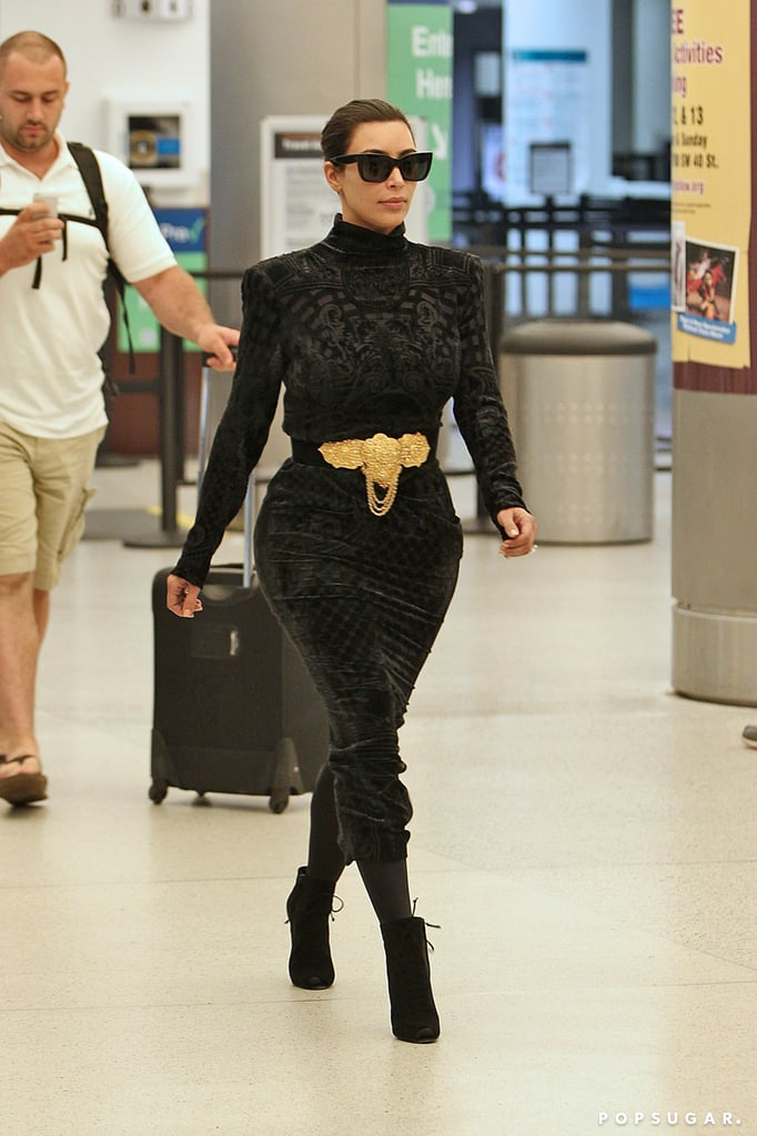 After stopping by the chateau, Kim jetted out of Paris to head to Miami.