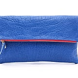Clare Vivier Blue Fold-Over Clutch