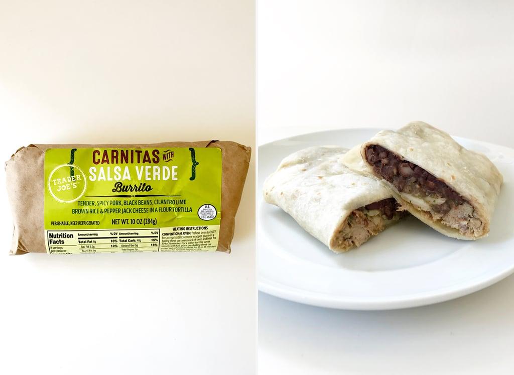 Carnitas With Salsa Verde Burrito ($4)