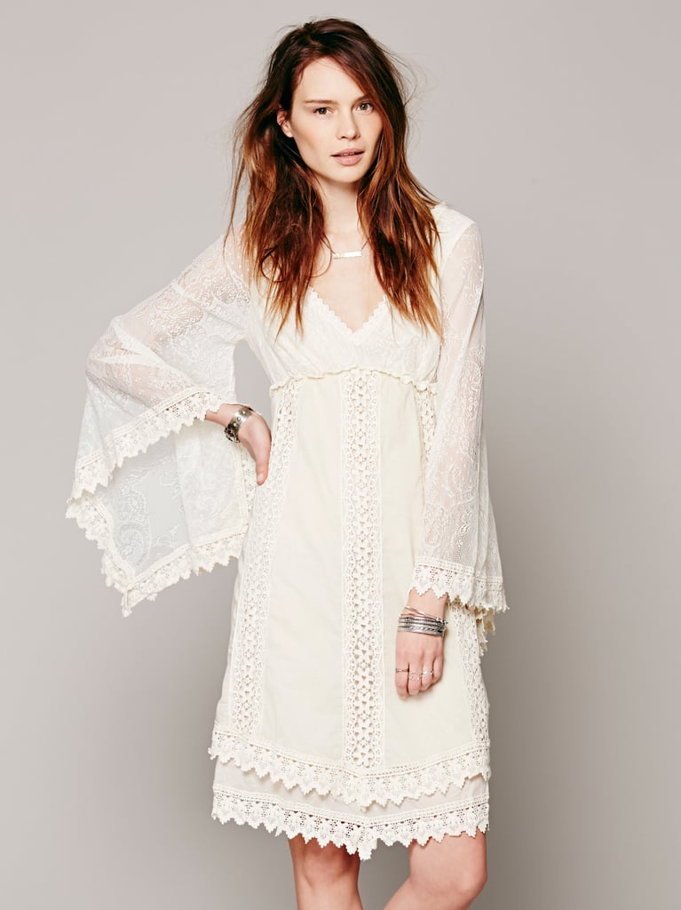 Free People White Crochet Dress