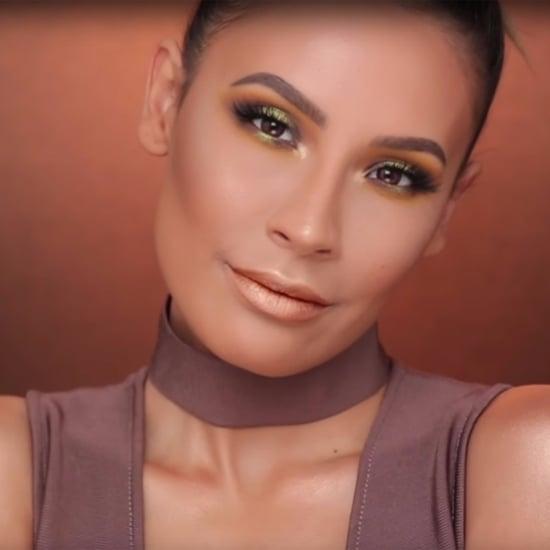 Chartreuse Smoky Eye Makeup With Metallic Lipstick Tutorial