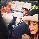 Stacy Keibler's throwback picture showed how Channing Tatum and his wife, Jenna Dewan, weather a storm. Source: Instagram user stacykeibler