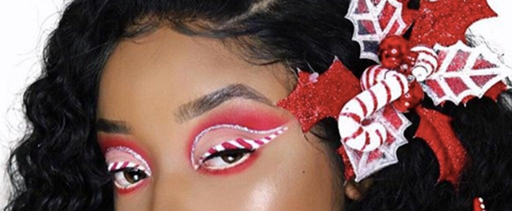 Candy Cane Makeup