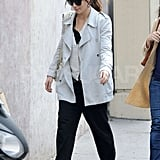 Jessica Biel shopped the streets of Paris while wearing her engagement ring.