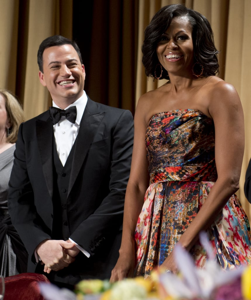 For the 2012 White House Correspondents' Dinner, Michelle wore a stately Naeem Khan gown.
