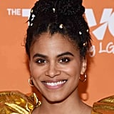 Zazie Beetz's Braided High Ponytail
