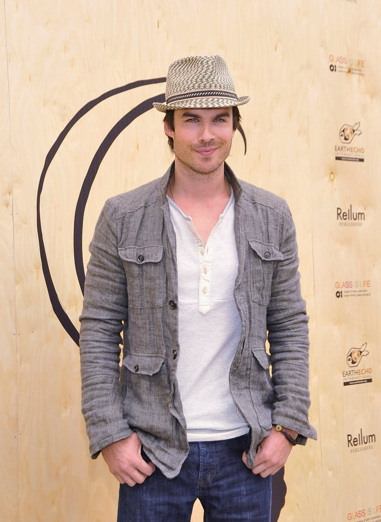 Ian Somerhalder brought his good looks to the Earth Day celebration in Santa Monica.