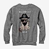 Grumpy Cat Pirate Halloween Sweatshirt