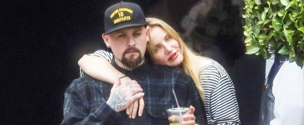 Cameron Diaz Cuddles Up to Benji Madden Before He Leaves For Tour