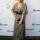Nicole Richie hits the green carpet at an Ella Moss party.