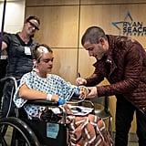 Nick Jonas Visiting the Children's Hospital of Orange County