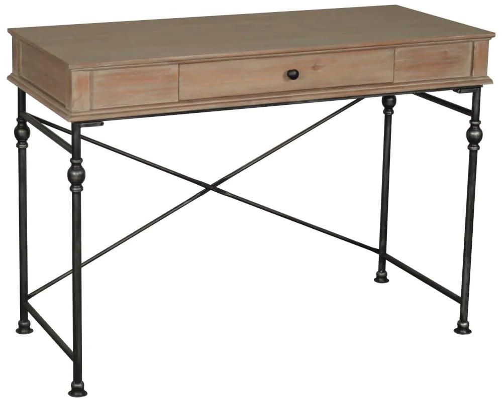 allen + roth Brown Pine Writing Desk