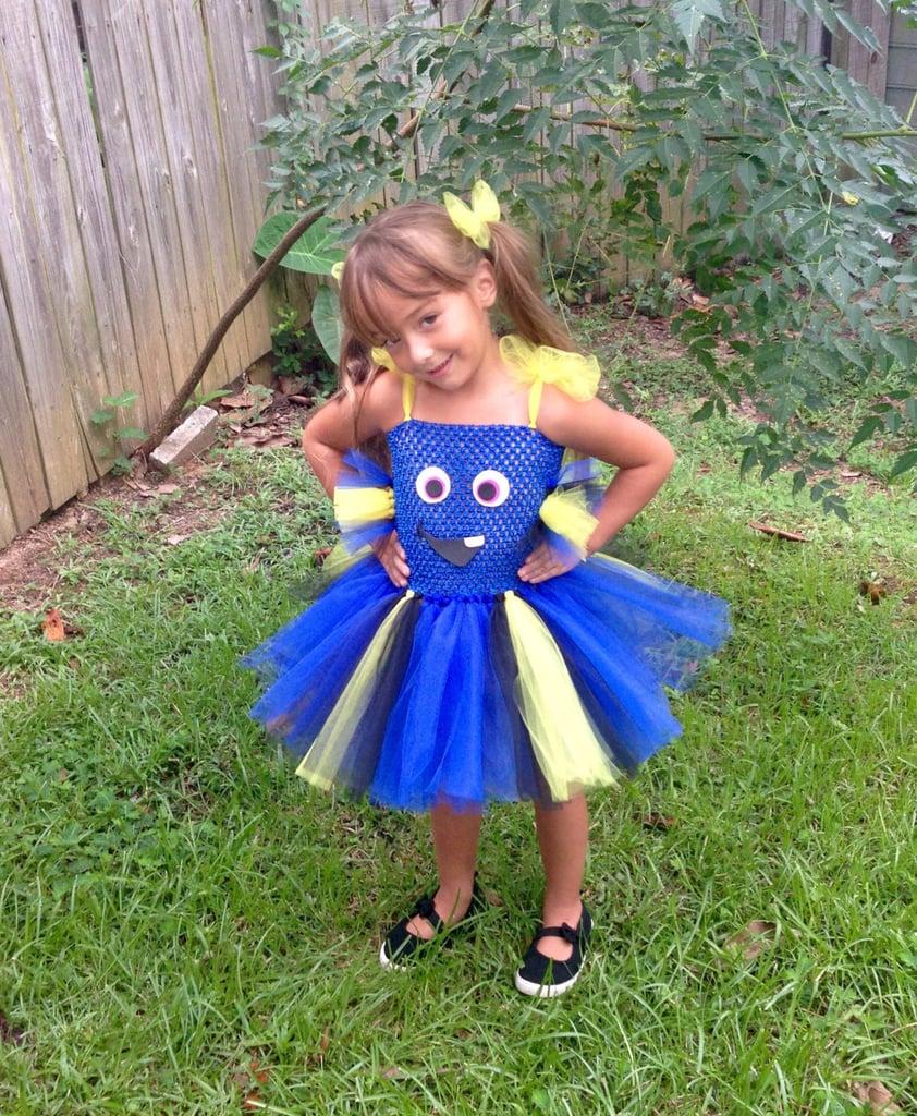 dory tutu dress ($35) | disney pixar halloween costumes for kids