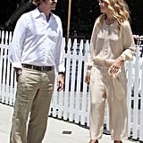 Rachel Zoe and Rodger Berman chatted waiting for their car.