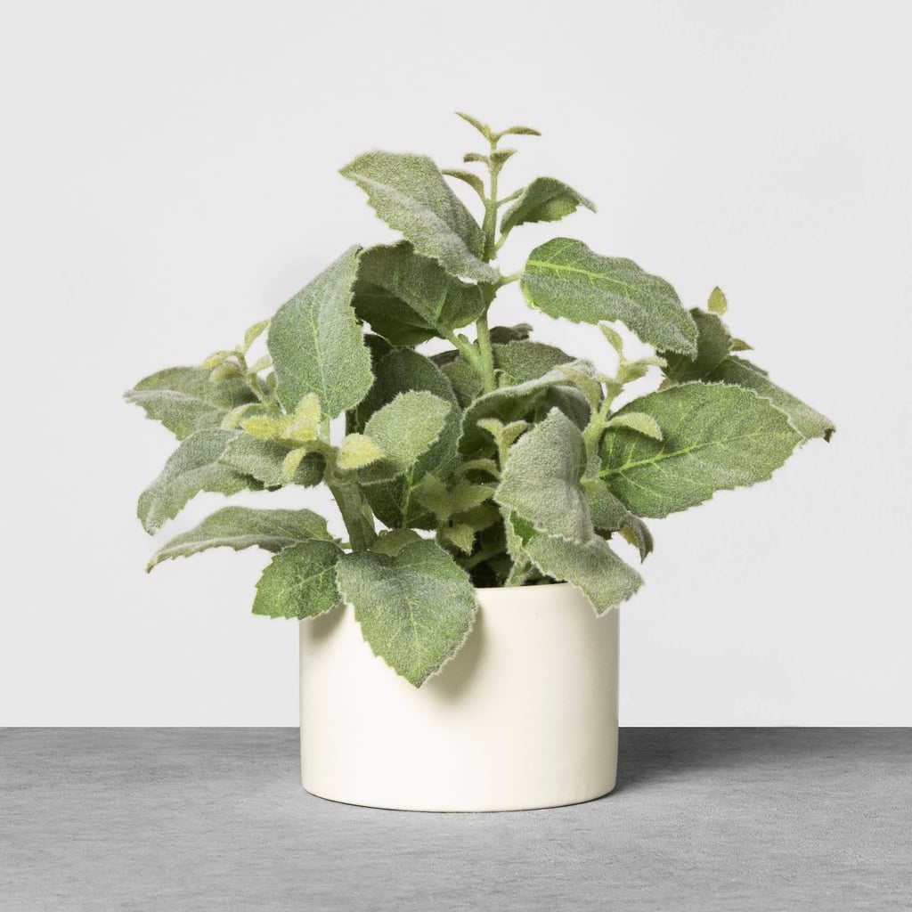 Faux Mint Potted Plant