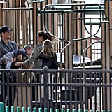 Tom Brady and Gisele Bundchen took Jack and Benjamin to a playground.