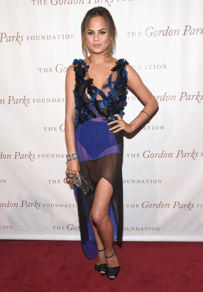 Chrissy Teigen at the 2014 Gordon Parks Awards Dinner and Auction