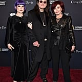 Kelly, Ozzy, and Sharon Osbourne at Clive Davis's 2020 Pre-Grammy Gala in LA
