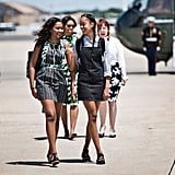 Sasha and Malia chatted in Roswell, NM before taking a June visit to Carlsbad Caverns.