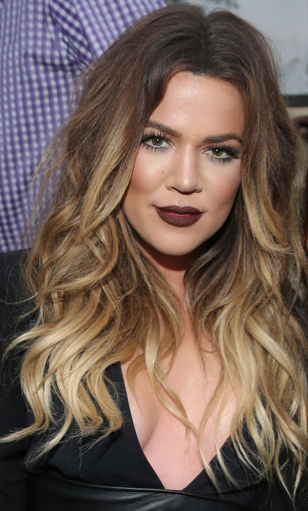 Khloe Kardashian With a Blond Balayage in 2014