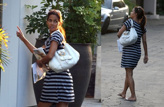 Halle Berry Goes Maternity Casual