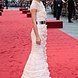 Keira wore a gorgeous embroidered dress from Chanel's Fall 2012 Couture collection.