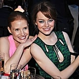The Help's Jessica Chastain and Emma Stone stick together.