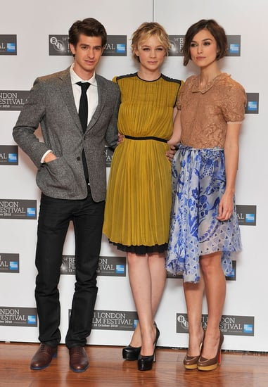 Pictures of Keira Knightley, Carey Mulligan and Andrew Garfield at Never Let Me Go London Film Festival Press Conference