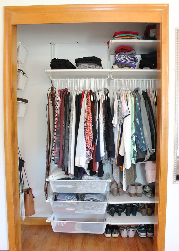 Ikea closet makeover popsugar home for Home closets