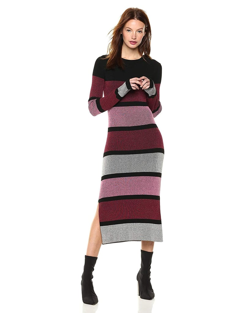 Cable Stitch Stripe Ribbed Dress