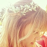 Lauren Conrad got into the warm-weather spirit with flowers in her hair.  Source: Instagram user laurenconrad