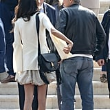 Amal Clooney Wearing a Bubble Skirt