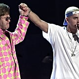 Elton John and Eminem famously performed together in 2001.