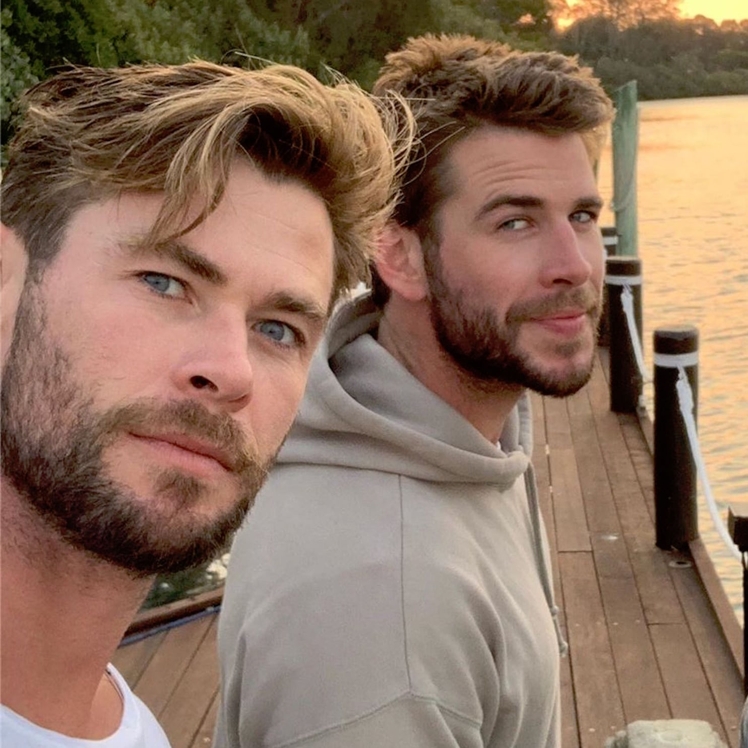 Liam Hemsworth Vacations With His Family In Australia Popsugar Celebrity