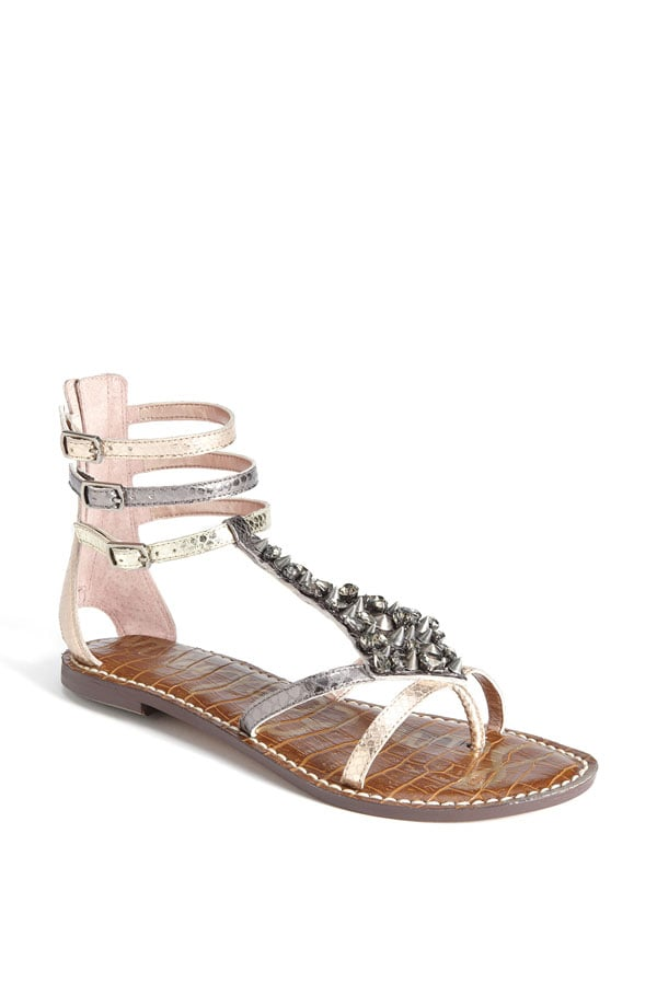The embellishment and rose-gold hue give these flats an ultraluxe vibe that'll add wow factor your easy maxi dresses.  Sam Edelman Georgina Sandal ($72, originally $120)
