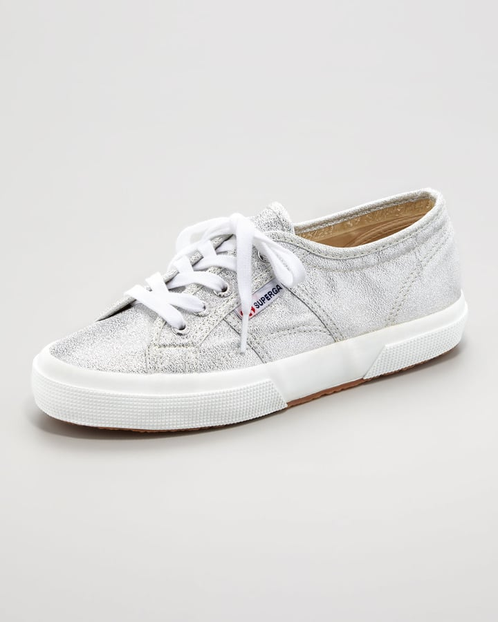 The sneaker craze is in full effect, but if you're not a high-top fan, you can still get in on the trend with a pair of Superga For The Row's lamé sneakers ($80) that quite literally will kick up your style game.