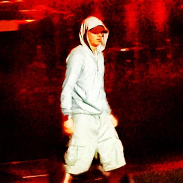 Bryan Greenberg snapped a shot of Eminem in concert. Source: Instagram user bryangreenberg
