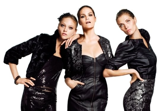 H&M Holiday 2009 Ads With Sasha Pivovarova and Missy Rayder