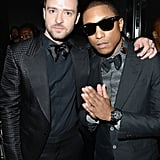 Justin Timberlake and Pharrell Williams shared a moment backstage.
