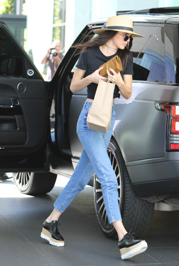 Kendall Wearing Her Stella McCartney Platforms