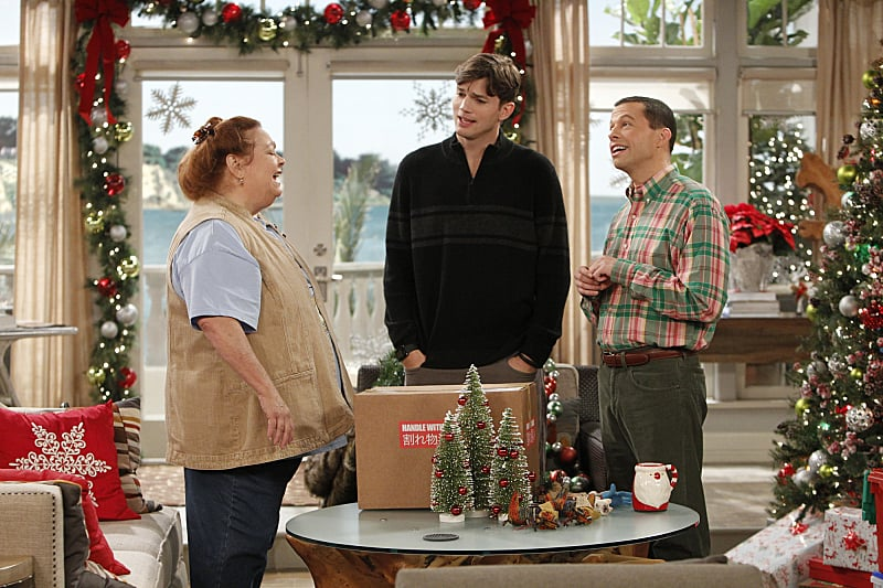 Two and a Half Men Berta (Conchata Ferrell) stops by the holiday episode of Two and a Half Men.