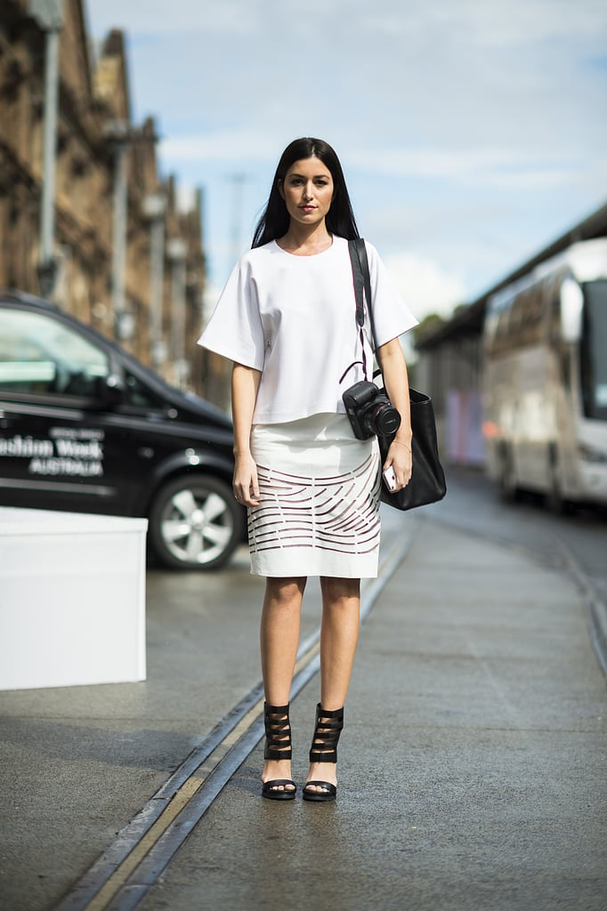 We loved the sleek black and white contrast at play in this look.  Source: Le 21ème | Adam Katz Sinding