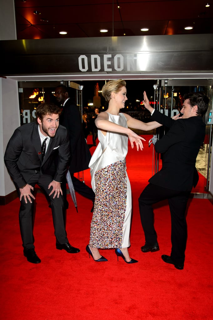 The Hunger Games Cast Having a Tickle Fight
