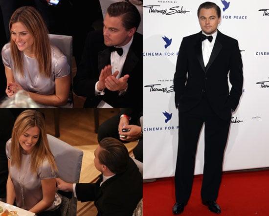 Photos of Leonardo DiCaprio And Bar Refaeli at The Cinema for Peace Gala in Berlin