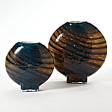 Bonnie: Global Views Cobalt Gold Swirl Vase